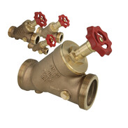 Gunmetal free-flow stop valves with non-rising stem and male thread
