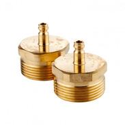 High-pressure plug set with adaptors