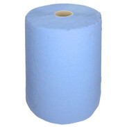 Paper tissue roll blue approx. 500 tear-offs 38 x 36 cm 3-ply
