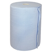 Paper tissue roll blue approx. 1,000 tear-offs 38 x 36 cm 2-ply
