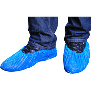 Disposable overshoes blue extra strong