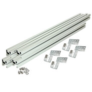 Mounting kit for 4flex® tube collectors, standard roof tiles