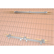 Mounting kit for 4flex® tubular collectors, plain roof tiles