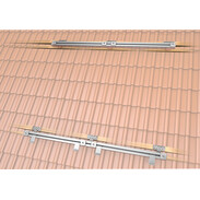 Mounting kit for 2plus® flat collectors, plain roof tiles