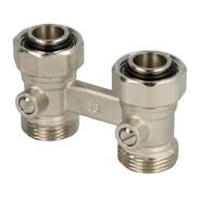 Bi-tube valve block
