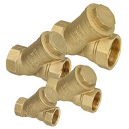 Dirt strainers for water supply, heating, air-conditioning or compressed-air systems