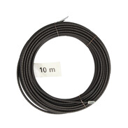 Pull-through spiral 10 m with lug and head 4-fold twisted steel wire Ø 4 mm