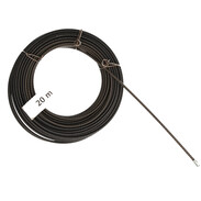 Pull-through spiral  20 m steel wire with lug and head