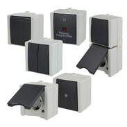 OroAQA surface-mounted wet room switch range
