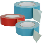 Fabric tapes with high adhesive strength