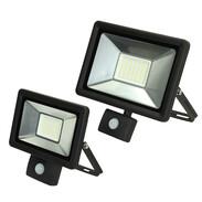 LED spots with motion detectors