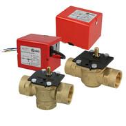 Zone valves with detachable actuator head
