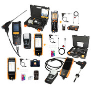 Flue gas analysers in complete set