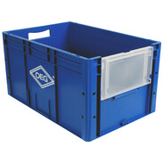 Storage box with hinged flap