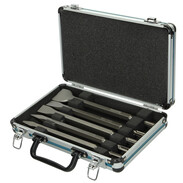 SDS-Plus chisel set in aluminium case D42379