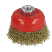 Cup brush with 0.3 mm crimped steel wire 75 x M14