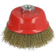 Cup brush with 0.3 mm crimped steel wire 100 x M14