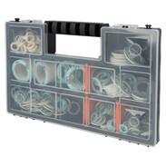 Assortimento di giunti in valigetta di plastica 7 tipi con 255 giunti fibra