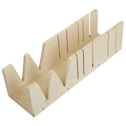 Mitre box for pipe insulations