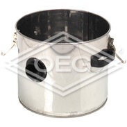Collection container stainless steel for vacuum cleaner KV20