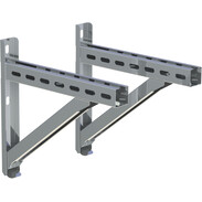 Wall support and cross rail stainless steel 350 mm