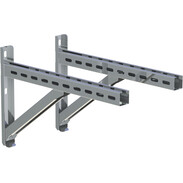 Wall support and cross rail stainless steel 500 mm