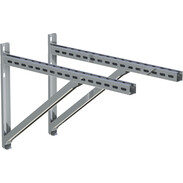 Wall support and cross rail istainless steel 750 mm