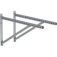 Wall support and cross rail stainless steel 1,030 mm