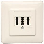 Rutenbeck TAE sockets for analogue networks TAE 3x6 NFN FM pure white 10210204