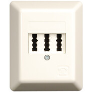 Rutenbeck TAE sockets for analogue networks TAE 3x6 NFN SM pure white 10210109