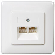 Rutenbeck UAE sockets for ISDN (western) UAE 2x8 (8) Up rw, double, parallel 13010246