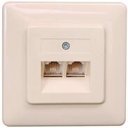 Rutenbeck UAE sockets for ISDN (western) IAE/UAE 2x8 (4) Up,2gang, parallel 13010211