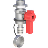 "Shut-off valve with ½"" ET"
