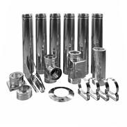 Canna fumaria kit base doppia parete Ø 130mm impianti di combustione standard