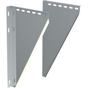 Staffa di supporto inox Ø 130 mm regolabile  50-150 mm