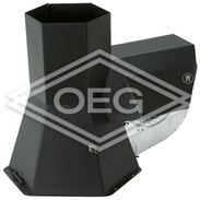 RS-180, chimney fan INJEKT stainless steel, black powder-coated