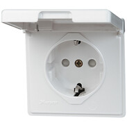 Kopp concealed safety socket, 16A, 250V~ with flap lid, IP44