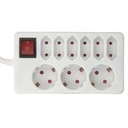 Kopp socket strip 3+6gang 129802002