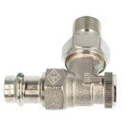 """Heimeier Regutec radiator return lockshield 1/2"""" x 15 mm angle"""