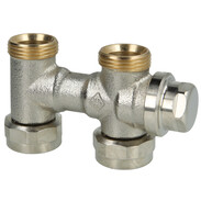 """Vekolux double connection fitting 3/4"""" straight with draininng 0532-50.000"""