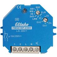 Eltako wireless actuator multifunction impulse switch FMS61NP-230V 30200330