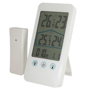 Weather station with temperature and air humidity measurement