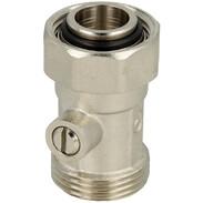 "Single ball valve straight 3/4"" IT x 3/4"" Euro cone"