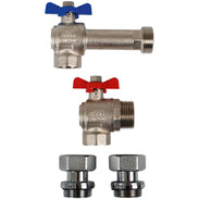 """WESA elbow-connection-set 3/4"""" x 1"""" for underfloor heating manifold"""