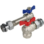 """WESA elbow-connection-set 1"""" x 1"""" for underfloor heating manifold"""