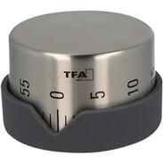 Kitchen-timer,anth., 60 min., st. steel housing, met. wind-up-mechanism, Ø70mm