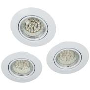 Recessed downlight set 3x LED 6 W COB Ø 9cm, 25° swivable 78840001
