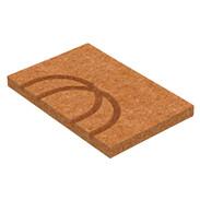 System board crossed bend 125 x 250 mm underfloor heating 370x250x30
