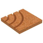 System board corner 90° for underfloor heating 250x250x30