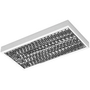 Solute surface-mounted louver luminaire T5 4 x 14 W, electronic ballast